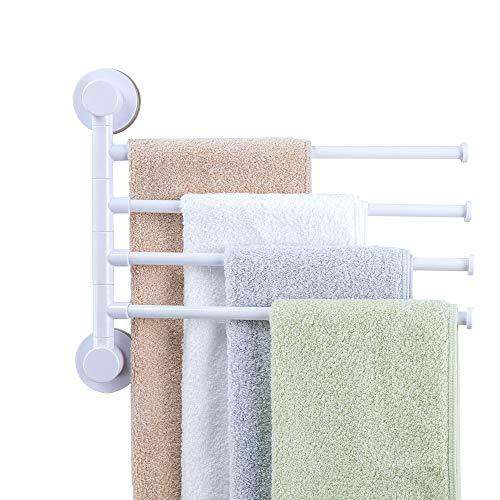 HOOMTAOOK Swivel Towel Bar Rack Super Power Vacuum Suction N