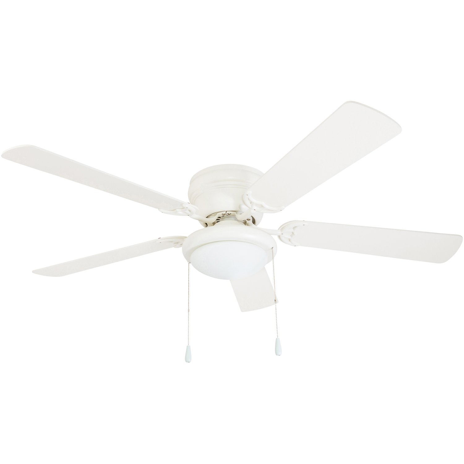 """Portage Bay Hugger 52"""" White West Hill Ceiling Fan with Bowl Light Kit"""