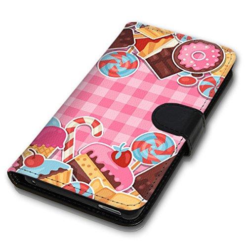 Wallet Book Style Flip Handy Tasche Case Schutz Hülle Schale Motiv Etui für Apple iPhone 4 / 4S - Design Flip MVD60