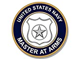 us navy master at arms - Round US Navy MASTER AT ARMS Logo Sticker (insignia)