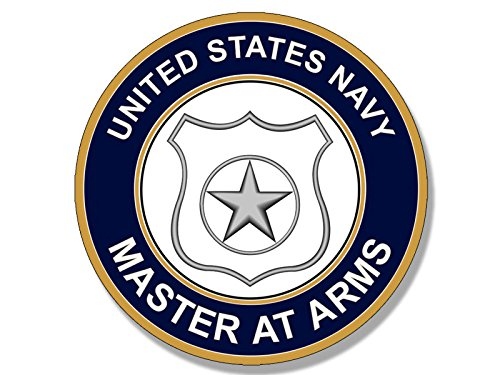 American Vinyl Round US Navy Master at ARMS Logo Sticker (Insignia)