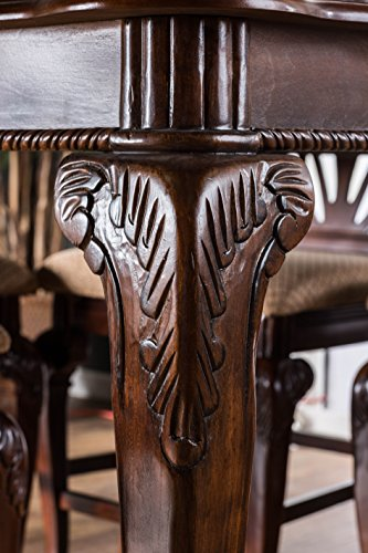 Furniture of America Bonaventure 9-Piece Traditional Style Pub Dining Set