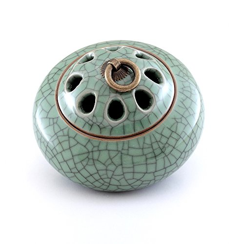 Ceramic Incense Holder (MEDOOSKY Ceramic Incense Burner Holder(For Sticks, Cones or Coils Incense), Firing at 1300℃)