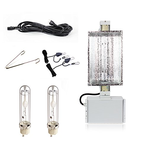 iPower 630W 3100K & 4200K Double Lamp Ceramic Metal Halide Grow Light System Kits for Indoor Plants 240V includes 2 x 315 Watt CMH Bulbs by iPower