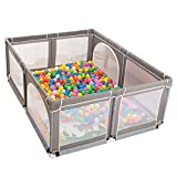 DNSJB Game Fence Portable Baby Fence with Crawling Mat and Ball, Children's Activity Center Indoor Security Playground Fence (Size : 190×150×70cm)