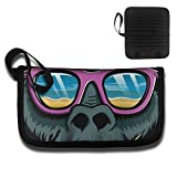Card Holder Cool Gorilla Head With Sunglasses Multifunctional High Capacity Portable Travel Documents Storage Bag