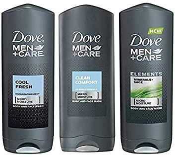Amazon Com Dove Men Care Body Wash Variety Value Pack Of 3 Flavors Clean Comfort Cool Fresh And Minerals Sage 13 5 Oz 400ml Each International Version Beauty