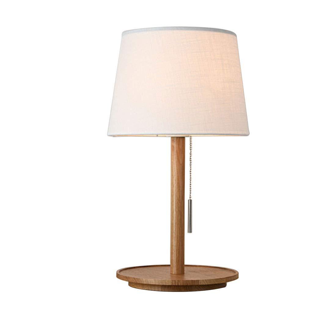 クリエイティブベッドルームベッドサイドランプノルディックスタイルLEDホーム木製テーブルランプインテリアランプ (Color : Wood color) B07TVGN346 Wood color