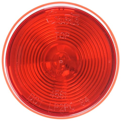 "Grote 45812 2 1/2"" Round Clearance Marker Light (Optic Lens)"