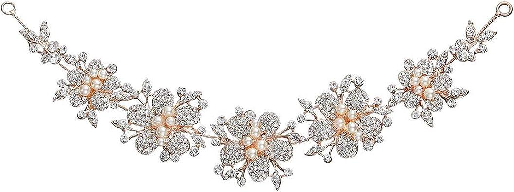 Fashion Femmes Bijoux Cristal Strass Mariage Mariée Bandeau Accessoires