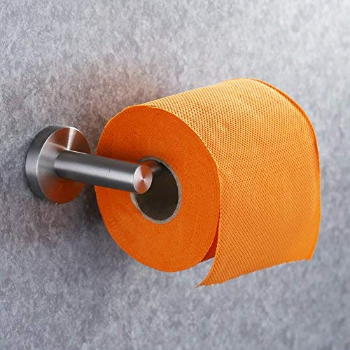 KES Bathroom Toilet Paper Holder Stainless Steel Tissue Paper Holder Storage Organizer Rustproof Tissue Roll Hanger Modern Style Wall Mount Brushed Finish A2174S12-2