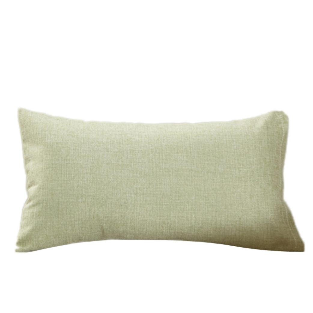 Fundas De Cojines, ❤️Xinantime Cajas de cojín de moda simple Cafe Sofa Funda de cojín Decoración del hogar diferente tamaño (40_x_40_cm, ❤️Verde)