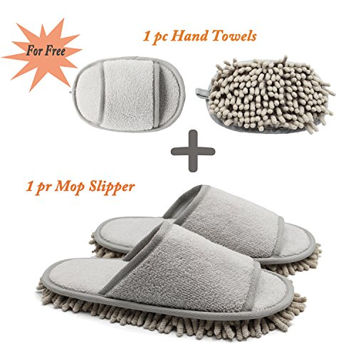 Microfiber Chenille with Mop Slippers Ofoot axIdqa