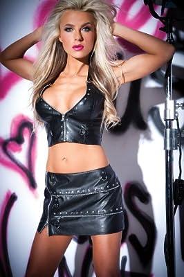 Allure Lingerie 13-4402 Metal Fetish Skirt