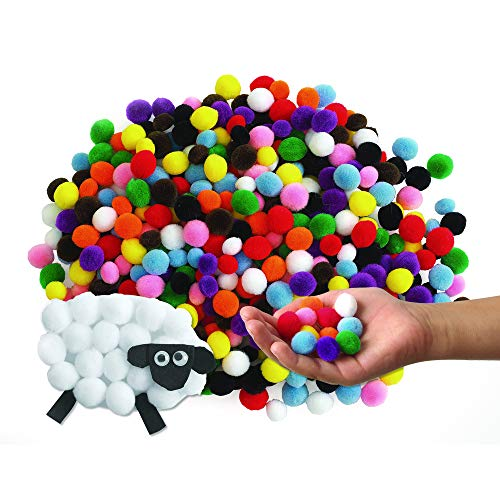 Colorations MINIPOM Mini Pom-Poms, 500 Pieces (Pack of 500)