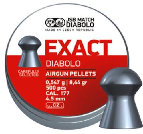 JSB Diabolo Exact Air Gun Pellets .177 Cal, 8.4 Grains, 500ct by JSB