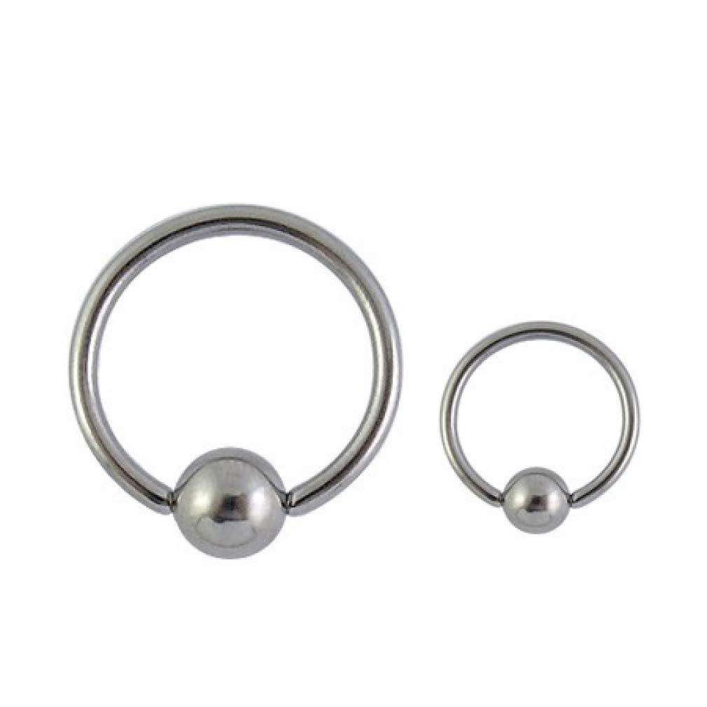 1//2 x 4 mm 1.6 x 12 VOTREPIERCING Grade 23 Titanium BCR Ball Closure Ring Piercing Jewel