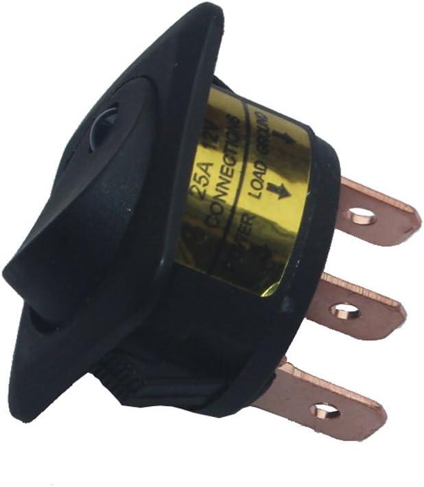 E Support/&Trade; 4 X 12V 25A Auto KFZ Schalter EIN//AUS Wippenschalter LED Beleuchtet Schalter Blau Rot Gr/ün Gelb 25mm