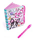 "Hot Focus Best Pals Secret Diary Passcode Lock Invisible Ink Pen – 6"" Journal Notebook 100 Double Sided Lined Pages Kids"