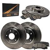 Max Brakes Front + Rear OE Series Rotors w/Ceramic Pads Premium Brake Kit KT102043 | Fits: 2009 09 Hyundai Sonata 2.4L Models