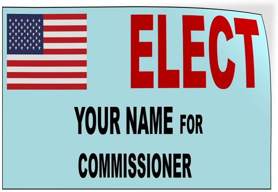 Custom Door Decals Vinyl Stickers Multiple Sizes Elect Name for Position Ballot Political Elect Signs Outdoor Luggage /& Bumper Stickers for Cars Black 60X40Inches 1 Sticker