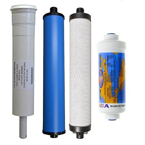 Microline 435 R.O. Pre & Post Filters w/ Membrane SET by Microline