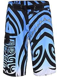 Men's Swim Trunks Beachwear Quick Dry Hawaiian Printed