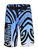 Unitop Men's Beachwear Summer Quick Dry Printed Blue 34