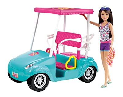 Barbie Sisters Golf Cart And Skipper Doll Set from Mattel