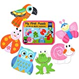 Vileafy Simple Floor Puzzles for Toddlers, 6-In-1 Beginners Jigsaw Puzzles (Colorful Animals)