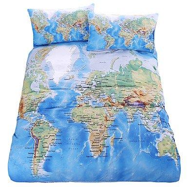 Sql beddingoutlet world map bedding set vivid printed blue bed cover sql beddingoutlet world map bedding set vivid printed blue bed cover twill cozy home textiles multi gumiabroncs Choice Image