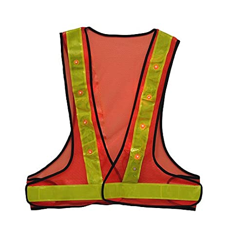 Strong-Willed Reflective Safety Vest With Led Signals Reflective Safety Vest With Led Signals Selling Well All Over The World Bicycle Accessories