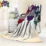 Digital Printing Blanket Arabian Hang on Sky Islamic Art Design Red Yellow Green Summer Quilt Comforter