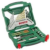 Bosch X-Line Titanio - Maletín de 50 unidades para taladrar y atornillar