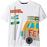 Fendi Kids Boy's Short Sleeve Logo Surf Van Graphic T-Shirt (Big Kids) White 9 Years