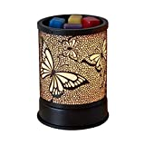 Wax Warmer for Scented Wax, Electric Wax Melter Candle Warmer Metal Butterfly Design Essential Oil Burner for Home Decor