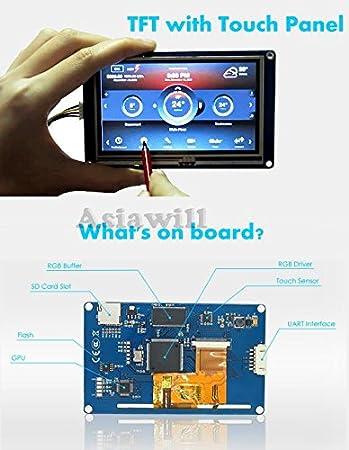 asiawill nextion nx3224t028/Generic 7,1/cm TFT 320/x 240/Aufl/ösung HMI LCD Touch Screen Display