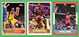 Michael Jordan 1986, LeBron James 2003, and Kobe Bryant 1996 **Basketball Rookie Reprint (3) Card Lot (Bulls) (Lakers) (Cavaliers) (Heat)