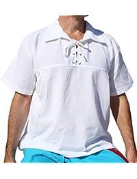 RaanPahMuang Brand Euro CollarShort Sleeve Renaissance Shirt Plus Size
