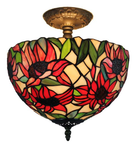 amora-lighting-tiffany-style-sunflowers-ceiling-pendant-hanging-lamp-12-in