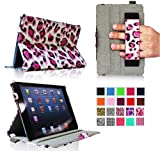 Fintie iPad mini Case - ClickBook Series Folio Hardback Case with Built-in Stand Auto Wake/Sleep for iPad mini (1st Generation) 7.9 inch Tablet - Leopard Pink