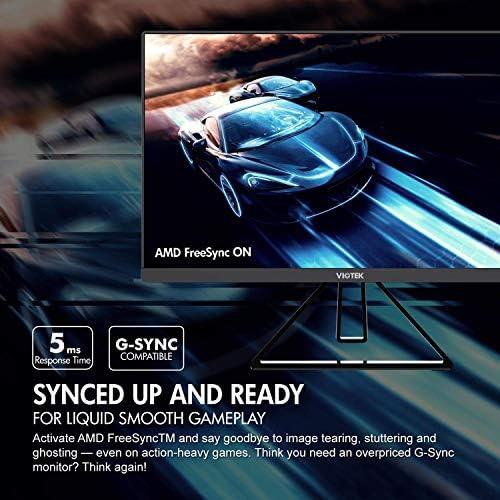 VIOTEK GFV22CB Ultra-Compact 22-Inch 144Hz Gaming Monitor | 1080P Full-HD 5ms | G-Sync-Compatible LooseSync FPS/RTS | 2X HDMI 3.5mm DP | Zero-Tolerance Dead Pixel Policy (VESA)