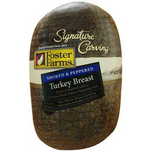 Foster Farms Peppered Turkey Breast -- 3 per case. by Foster Farms