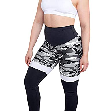 b80e18065d7c7 Image Unavailable. Image not available for. Color: Yamally Yoga Leggings, Women Colorful Letter Print High Waist Sports Gym Fitness Camouflage ...
