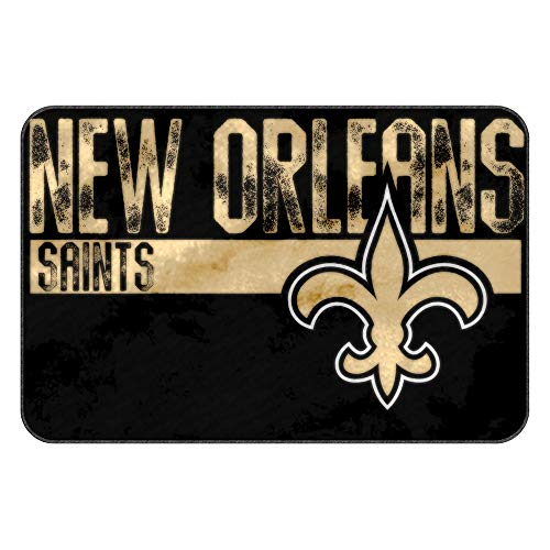 The Northwest Company NFL New Orleans Saints Embossed Memory Foam Rug, One Size, Multicolor