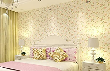 Cczxfcc Pvc Pastoral Style Pink Small Flowers Wallpaper Bedroom