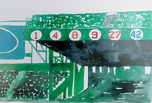 Edition Print Sports Open (Boston redsox, boston sports, redsox, Red Sox Retired Numbers Fenway Park- Open Edition Print)