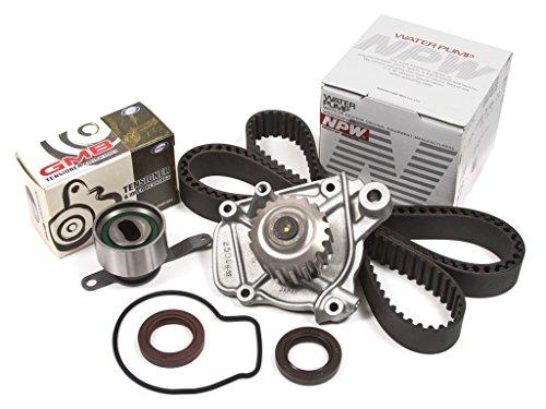 (Evergreen TBK223WPN Fits 92-95 Honda Civic VX 1.5L SOHC D15Z1 Seals Timing Belt Kit NPW Water Pump )
