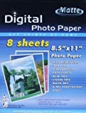 Digital Photo Paper - 8 Sheets - 8.5 X 11 - Designed Exclusively for Inkjet Printers by Good Old Values