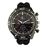 Freekid Multi-Multi-function Fishing Climbing Sports Outdoor Watch Swiss Sensor ,Outdoor Watch for Mens, Hiking,Include Paracord,Fire Starter,Scraper,Whistle,Compass and Thermometer
